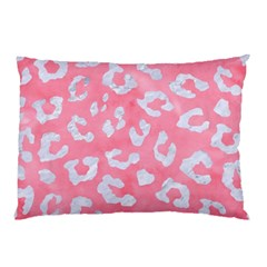 Skin5 White Marble & Pink Watercolor (r) Pillow Case by trendistuff