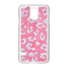 Skin5 White Marble & Pink Watercolor (r) Samsung Galaxy S5 Case (white) by trendistuff