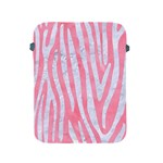 SKIN4 WHITE MARBLE & PINK WATERCOLOR (R) Apple iPad 2/3/4 Protective Soft Cases Front