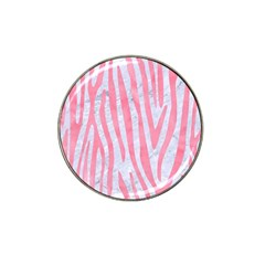 Skin4 White Marble & Pink Watercolor Hat Clip Ball Marker by trendistuff
