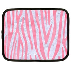 Skin4 White Marble & Pink Watercolor Netbook Case (xl)