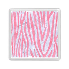 Skin4 White Marble & Pink Watercolor Memory Card Reader (square)  by trendistuff