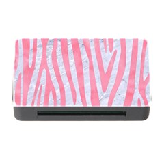 Skin4 White Marble & Pink Watercolor Memory Card Reader With Cf by trendistuff