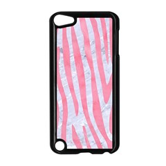 Skin4 White Marble & Pink Watercolor Apple Ipod Touch 5 Case (black) by trendistuff