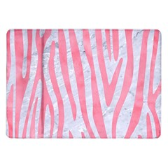Skin4 White Marble & Pink Watercolor Samsung Galaxy Tab 10 1  P7500 Flip Case by trendistuff