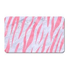 Skin3 White Marble & Pink Watercolor (r) Magnet (rectangular) by trendistuff