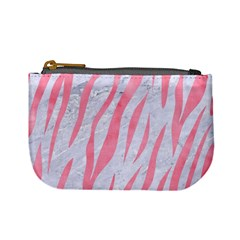 Skin3 White Marble & Pink Watercolor (r) Mini Coin Purses by trendistuff