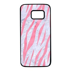 Skin3 White Marble & Pink Watercolor (r) Samsung Galaxy S7 Black Seamless Case