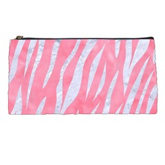 Skin3 White Marble & Pink Watercolor Pencil Cases by trendistuff