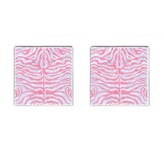 Skin2 White Marble & Pink Watercolor (r) Cufflinks (square) by trendistuff