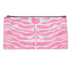 Skin2 White Marble & Pink Watercolor Pencil Cases by trendistuff