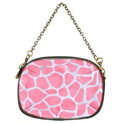 Skin1 White Marble & Pink Watercolor (r) Chain Purses (one Side)  by trendistuff