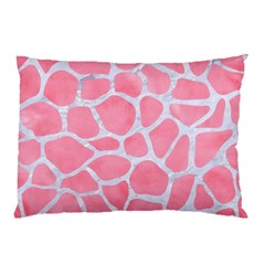 Skin1 White Marble & Pink Watercolor (r) Pillow Case (two Sides) by trendistuff