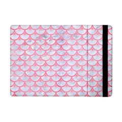 Scales3 White Marble & Pink Watercolor (r) Apple Ipad Mini Flip Case by trendistuff