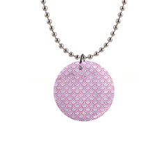 Scales2 White Marble & Pink Watercolor (r) Button Necklaces by trendistuff