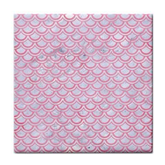 Scales2 White Marble & Pink Watercolor (r) Face Towel