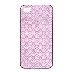 Scales2 White Marble & Pink Watercolor (r) Apple Iphone 4/4s Seamless Case (black) by trendistuff