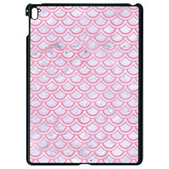 Scales2 White Marble & Pink Watercolor (r) Apple Ipad Pro 9 7   Black Seamless Case by trendistuff