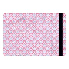 Scales2 White Marble & Pink Watercolor (r) Apple Ipad Pro 10 5   Flip Case