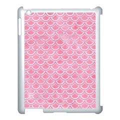 Scales2 White Marble & Pink Watercolor Apple Ipad 3/4 Case (white) by trendistuff