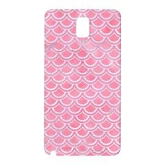 Scales2 White Marble & Pink Watercolor Samsung Galaxy Note 3 N9005 Hardshell Back Case