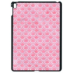 Scales2 White Marble & Pink Watercolor Apple Ipad Pro 9 7   Black Seamless Case by trendistuff