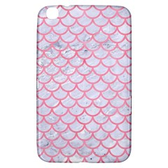 Scales1 White Marble & Pink Watercolor (r) Samsung Galaxy Tab 3 (8 ) T3100 Hardshell Case  by trendistuff