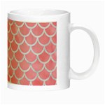 SCALES1 WHITE MARBLE & PINK WATERCOLOR Night Luminous Mugs Right