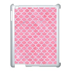 Scales1 White Marble & Pink Watercolor Apple Ipad 3/4 Case (white)