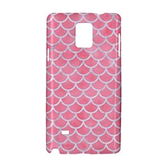 Scales1 White Marble & Pink Watercolor Samsung Galaxy Note 4 Hardshell Case by trendistuff