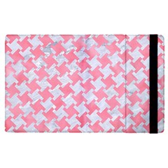 Houndstooth2 White Marble & Pink Watercolor Apple Ipad Pro 9 7   Flip Case by trendistuff