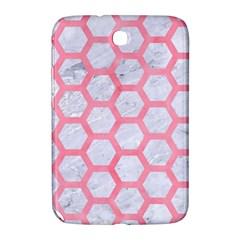 Hexagon2 White Marble & Pink Watercolor (r) Samsung Galaxy Note 8 0 N5100 Hardshell Case  by trendistuff