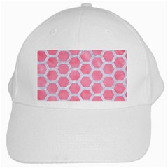 HEXAGON2 WHITE MARBLE & PINK WATERCOLOR White Cap