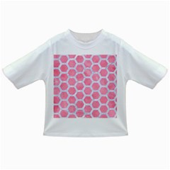 HEXAGON2 WHITE MARBLE & PINK WATERCOLOR Infant/Toddler T-Shirts