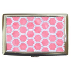 HEXAGON2 WHITE MARBLE & PINK WATERCOLOR Cigarette Money Cases