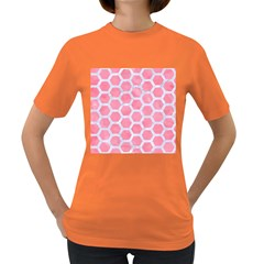 HEXAGON2 WHITE MARBLE & PINK WATERCOLOR Women s Dark T-Shirt