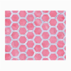 HEXAGON2 WHITE MARBLE & PINK WATERCOLOR Small Glasses Cloth