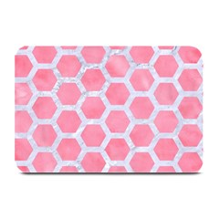 HEXAGON2 WHITE MARBLE & PINK WATERCOLOR Plate Mats