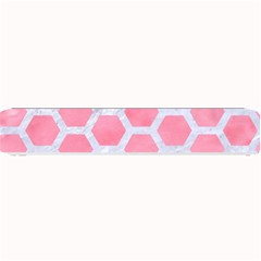 HEXAGON2 WHITE MARBLE & PINK WATERCOLOR Small Bar Mats