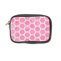 HEXAGON2 WHITE MARBLE & PINK WATERCOLOR Coin Purse