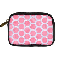 HEXAGON2 WHITE MARBLE & PINK WATERCOLOR Digital Camera Cases