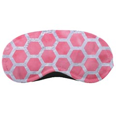 HEXAGON2 WHITE MARBLE & PINK WATERCOLOR Sleeping Masks
