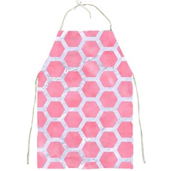 HEXAGON2 WHITE MARBLE & PINK WATERCOLOR Full Print Aprons
