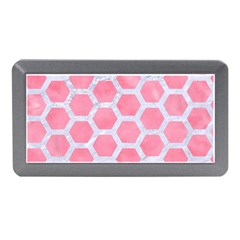 HEXAGON2 WHITE MARBLE & PINK WATERCOLOR Memory Card Reader (Mini)