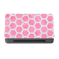 HEXAGON2 WHITE MARBLE & PINK WATERCOLOR Memory Card Reader with CF