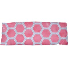 HEXAGON2 WHITE MARBLE & PINK WATERCOLOR Body Pillow Case (Dakimakura)