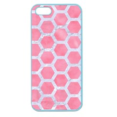 HEXAGON2 WHITE MARBLE & PINK WATERCOLOR Apple Seamless iPhone 5 Case (Color)