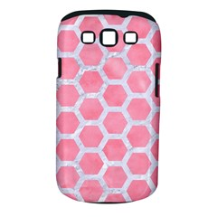 HEXAGON2 WHITE MARBLE & PINK WATERCOLOR Samsung Galaxy S III Classic Hardshell Case (PC+Silicone)
