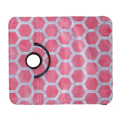 HEXAGON2 WHITE MARBLE & PINK WATERCOLOR Galaxy S3 (Flip/Folio)