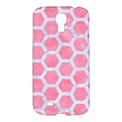 HEXAGON2 WHITE MARBLE & PINK WATERCOLOR Samsung Galaxy S4 I9500/I9505 Hardshell Case